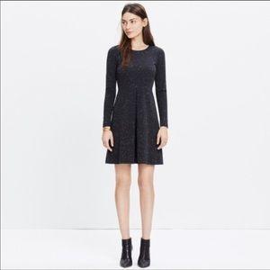 Madewell Grey Heathered Long Sleeve Dress Sz 2